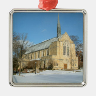 Harbison Chapel in Winter at Grove City College Metal Ornament