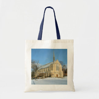 Harbison Chapel in Winter at Grove City College Tote Bag