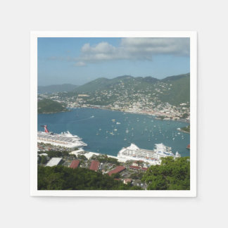 Harbor at St. Thomas US Virgin Islands Paper Napkin