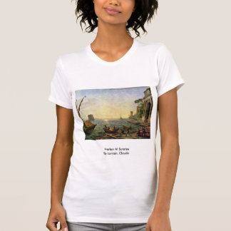 Harbor At Sunrise By Lorrain, Claude T-shirt