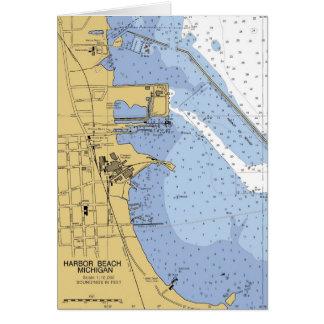 Harbor Beach, MI Nautical Harbor Chart Card