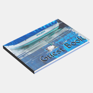 Harbor Boat Sailboat Balboa Island Duck Guest Book