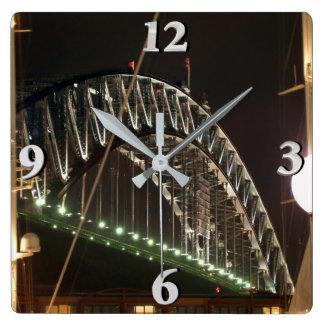Harbor Bridge Square Wall Clock