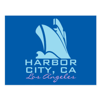 Harbor City California Postcard