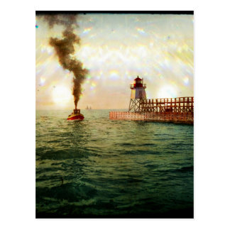 Harbor entrance, Charlevoix, Michigan circa 1900 Postcard