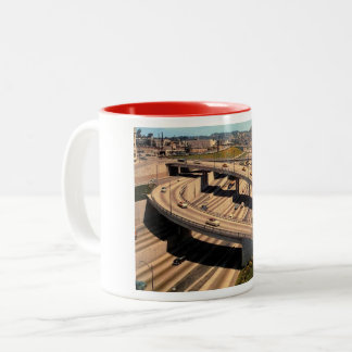 Harbor Freeway, Los Angeles, Vintage Two-Tone Coffee Mug
