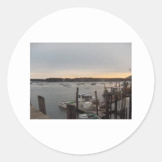 Harbor (Friendship, Maine) Classic Round Sticker