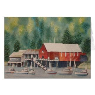 Harbor in Alaska Card