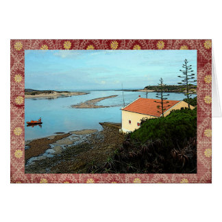 Harbor in Milfontes, Portugal Card