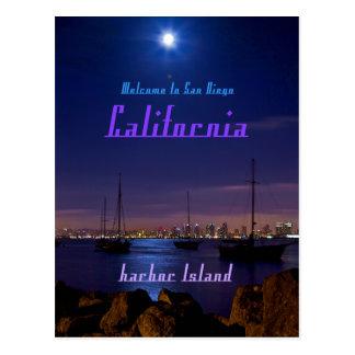 Harbor Island, San Diego California Postcards