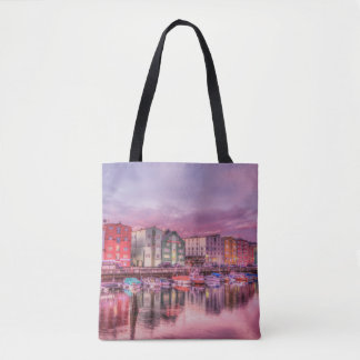 Harbor Lights All-Over-Print Tote Bag
