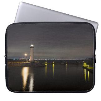 Harbor Rockwall Lighthouse Laptop Sleeve