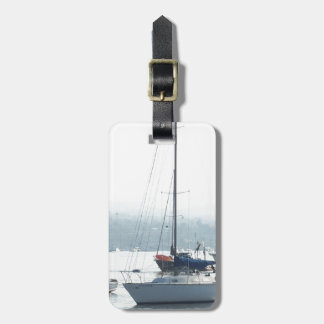 Harbor Sailboats Boats Sailing Marina Luggage Tag