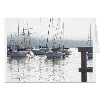 Harbor Sailboats Card