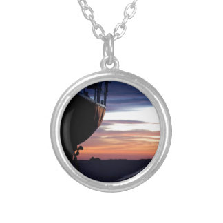Harbor Sunrise Silver Plated Necklace