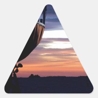 Harbor Sunrise Triangle Sticker