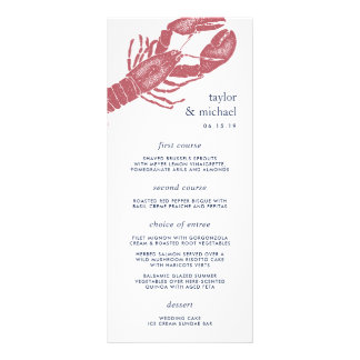 Harborside | Nautical Lobster Wedding Menu Card