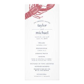Harborside Wedding Ceremony Program Rack Card