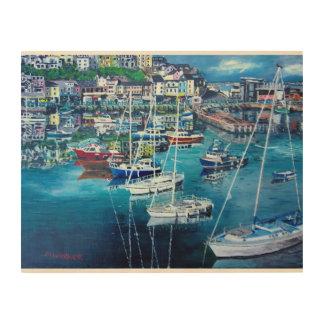 harbour 1 wood art print wood canvas