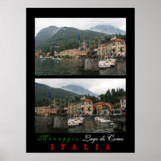 Harbour at Menaggio Poster