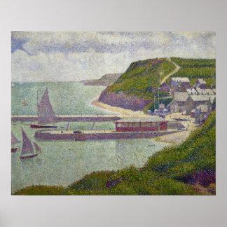 Harbour at Port-en-Bessin at High Tide, 1888 Poster