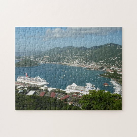 Harbour at St. Thomas US Virgin Islands Jigsaw Puzzle