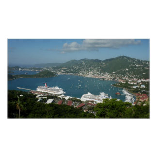 Harbour at St. Thomas US Virgin Islands Poster