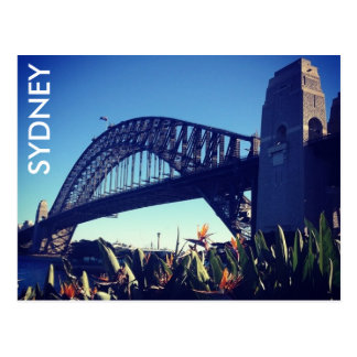 harbour bridge paradise postcard
