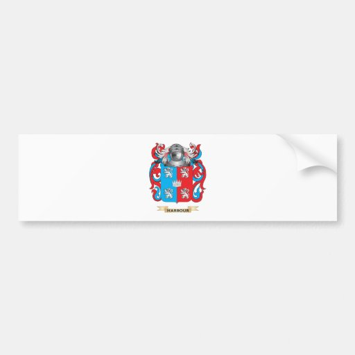 Harbour Coat of Arms (Family Crest) Bumper Stickers