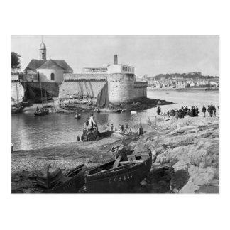 Harbour, Concarneau Postcard