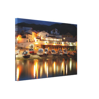 Harbour in the Azores Canvas Print