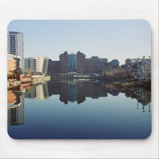 harbour reflection,Salfor Quays Mouse Pads