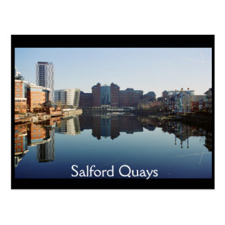 Harbour reflection, Salford Quays Postcard