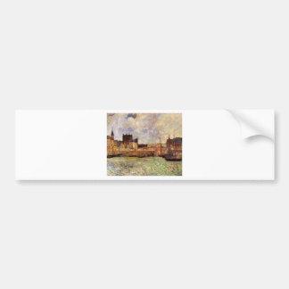 Harbour Scene, Dieppe by Paul Gauguin Bumper Sticker