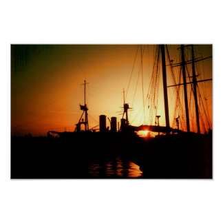 harbour sunset poster