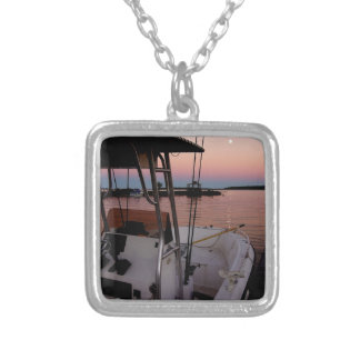 Harbour Sunset, St Joseph Island Silver Plated Necklace