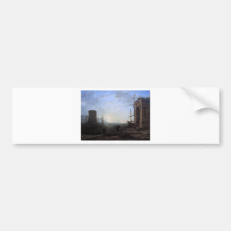 Harbour view at sunrise by Claude Lorrain Bumper Sticker