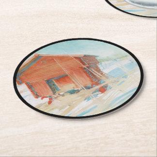 Harbre i Vintersol Round Paper Coaster