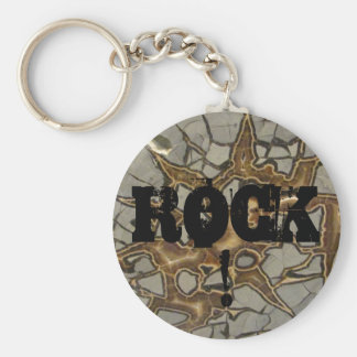 Hard as Rock! Basic Round Button Key Ring