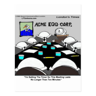 Hard-Boiled Corporate Meeting Funny Postcard
