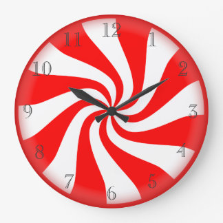 Hard candy peppermint clock
