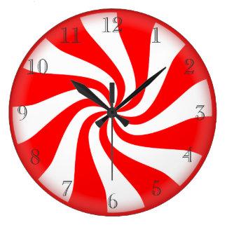 Hard candy peppermint clock