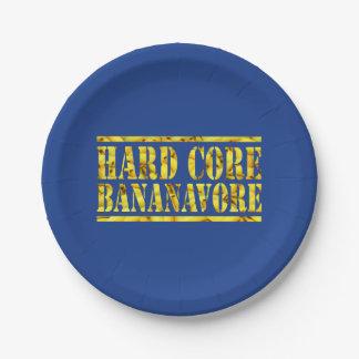 HARD CORE BANANAVORE PAPER PLATE