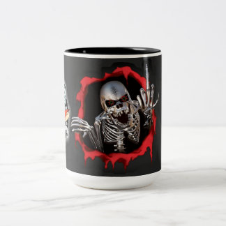 Hard Core Machinist skull Coffee Cup
