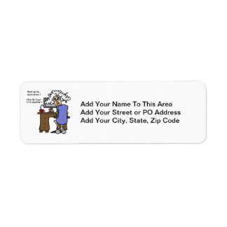 Hard Drive Back Up Humorous Return Address Label