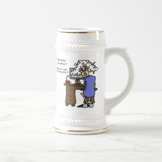 Hard Drive Back Up Humorous 18 Oz Beer Stein