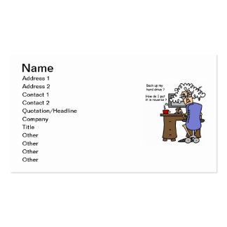 Hard Drive Back Up Humorous Pack Of Standard Business Cards