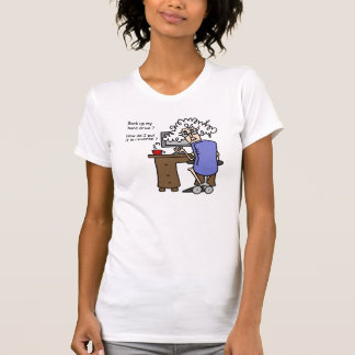 Hard Drive Back Up Humorous T-Shirt