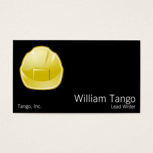 Hard Hat Construction Architect Business Card