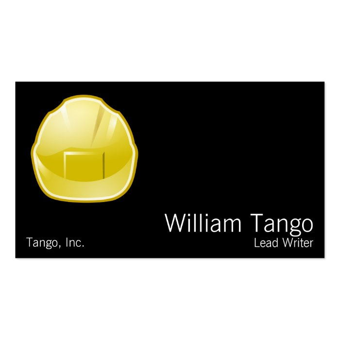 Hard Hat Construction Architect Pack Of Standard Business Cards